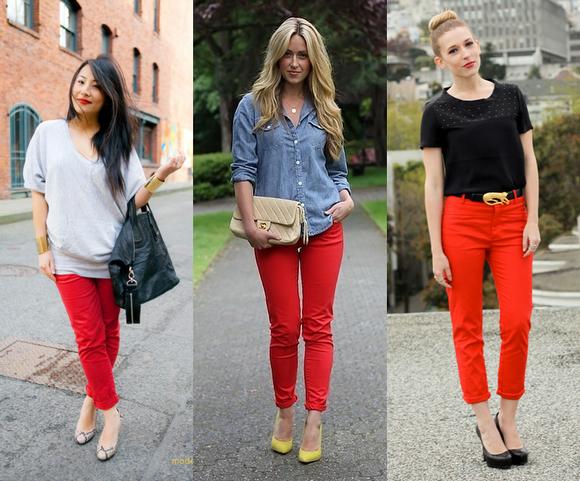 como_usar_cal_a_vermelha_how_to_wear_red_pants_modelos_looks_1_