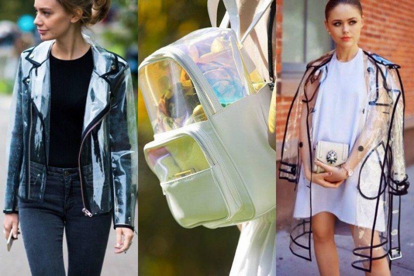 Jaqueta, Bolsa e Sobretudo de Plástico - Tendência para o Verão