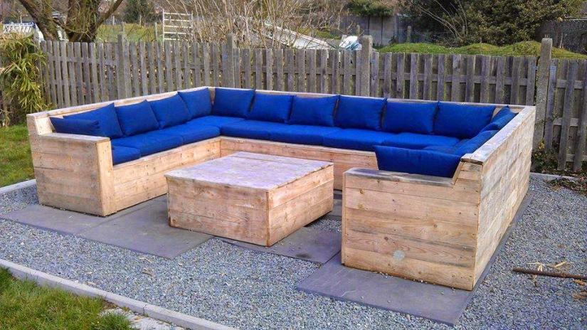 Sofá de varanda feito de palete