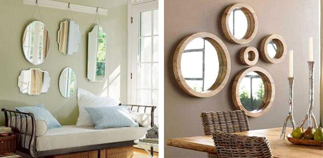 Espelhos diferentes para decoração