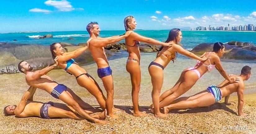 Fotos com amigos na praia - Elis Cecilia Blog