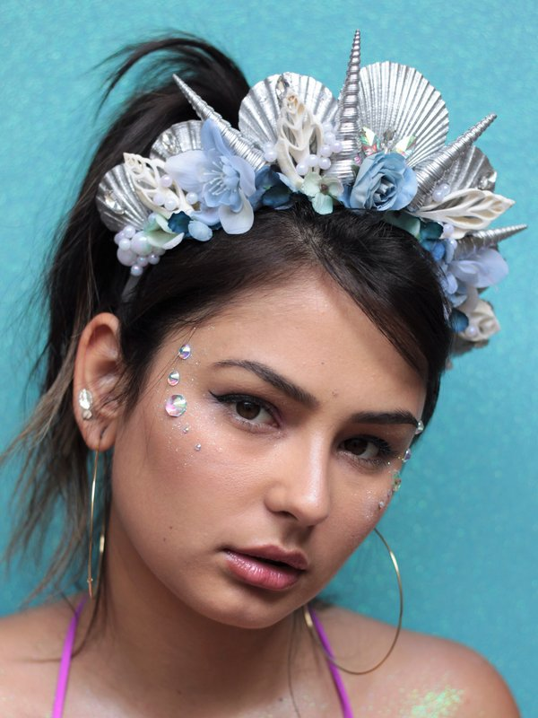 Tiara de Conchas Prateadas para o Carnaval - Elis Cecilia Blog