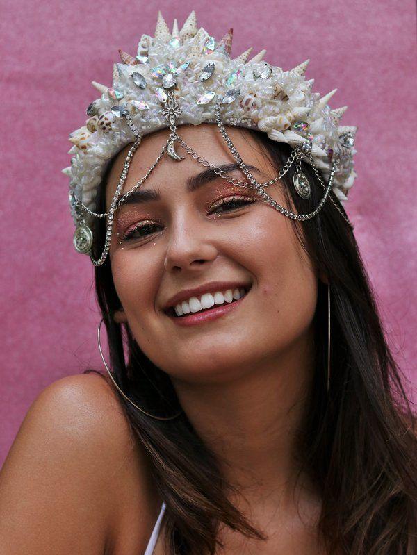 Coroa de Conchas para o Carnaval - Elis Cecilia Blog