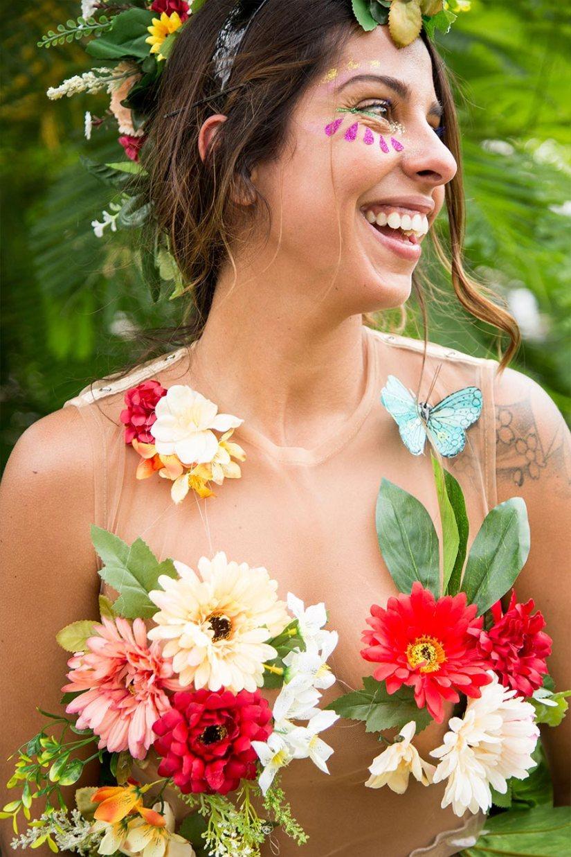 Cropped de Flores para o Carnaval - Elis Cecilia Blog