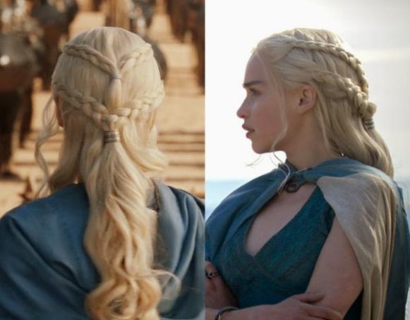 Daenerys Targaryen a Mãe dos Dragões com suas Tranças - Elis Cecilia Blog