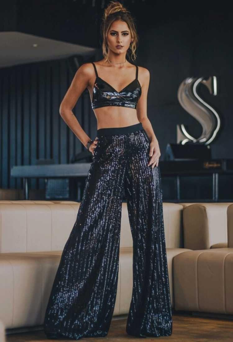 Calça Pantalona com Brilho: Tendência 2019 - Elis Cecilia Blog