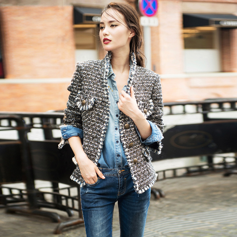 Casaco de Tweed com Jeans, Tendência 2019 - Elis Cecilia Blog