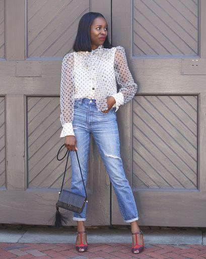 Camisa de Organza com calça jeans (Tendência 2020) - Elis Cecilia Blog