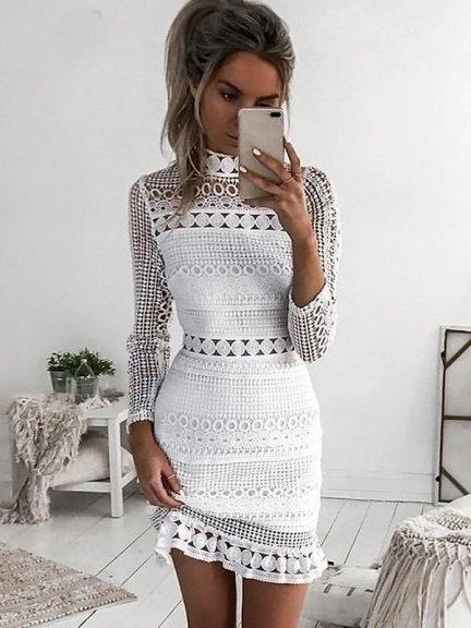 Vestido Branco de Crochê Tendência para o Verão 2020- Elis Cecilia Blog
